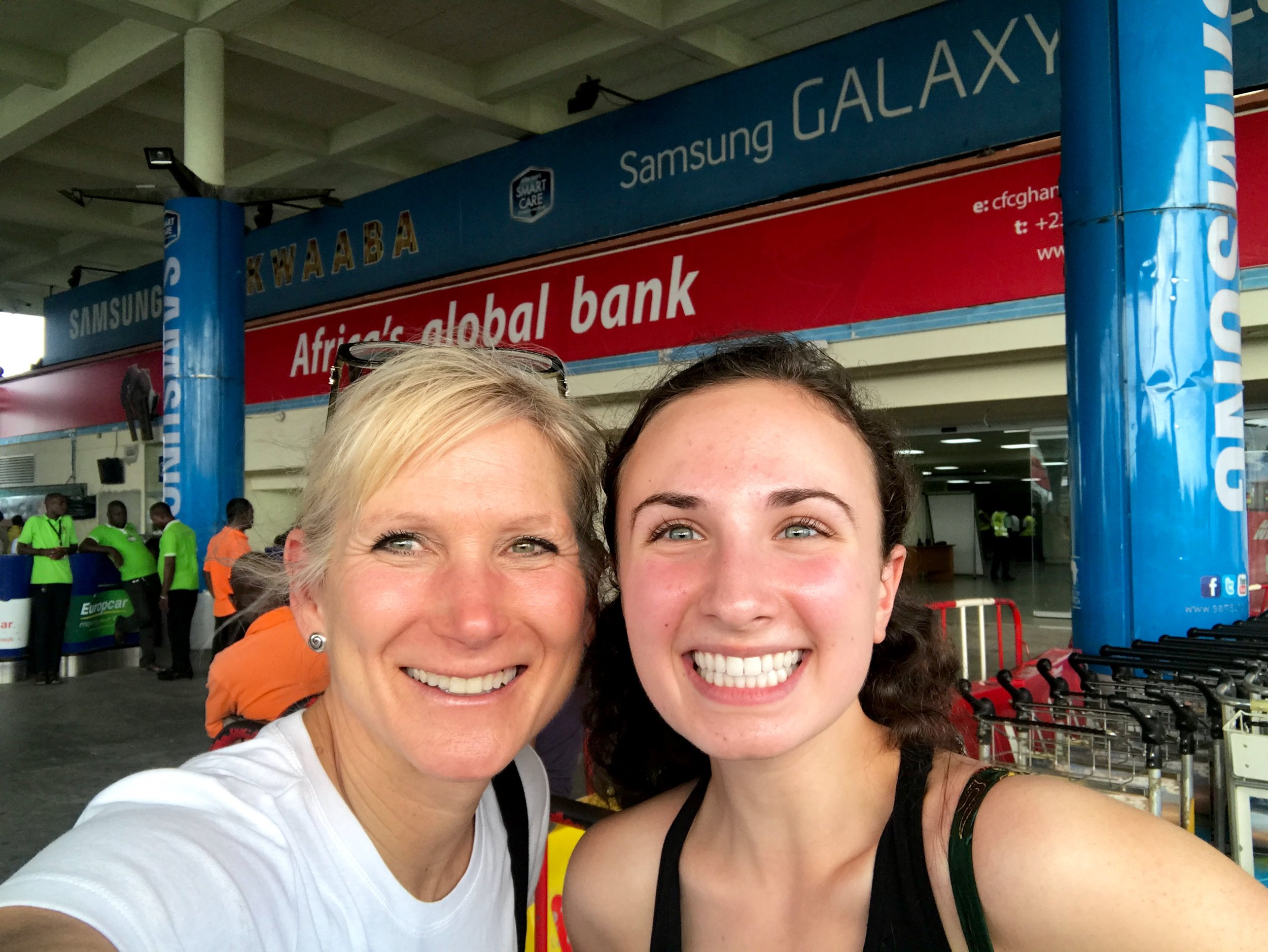 Can you tell we were both very excited that Julie finally made it to Accra?!