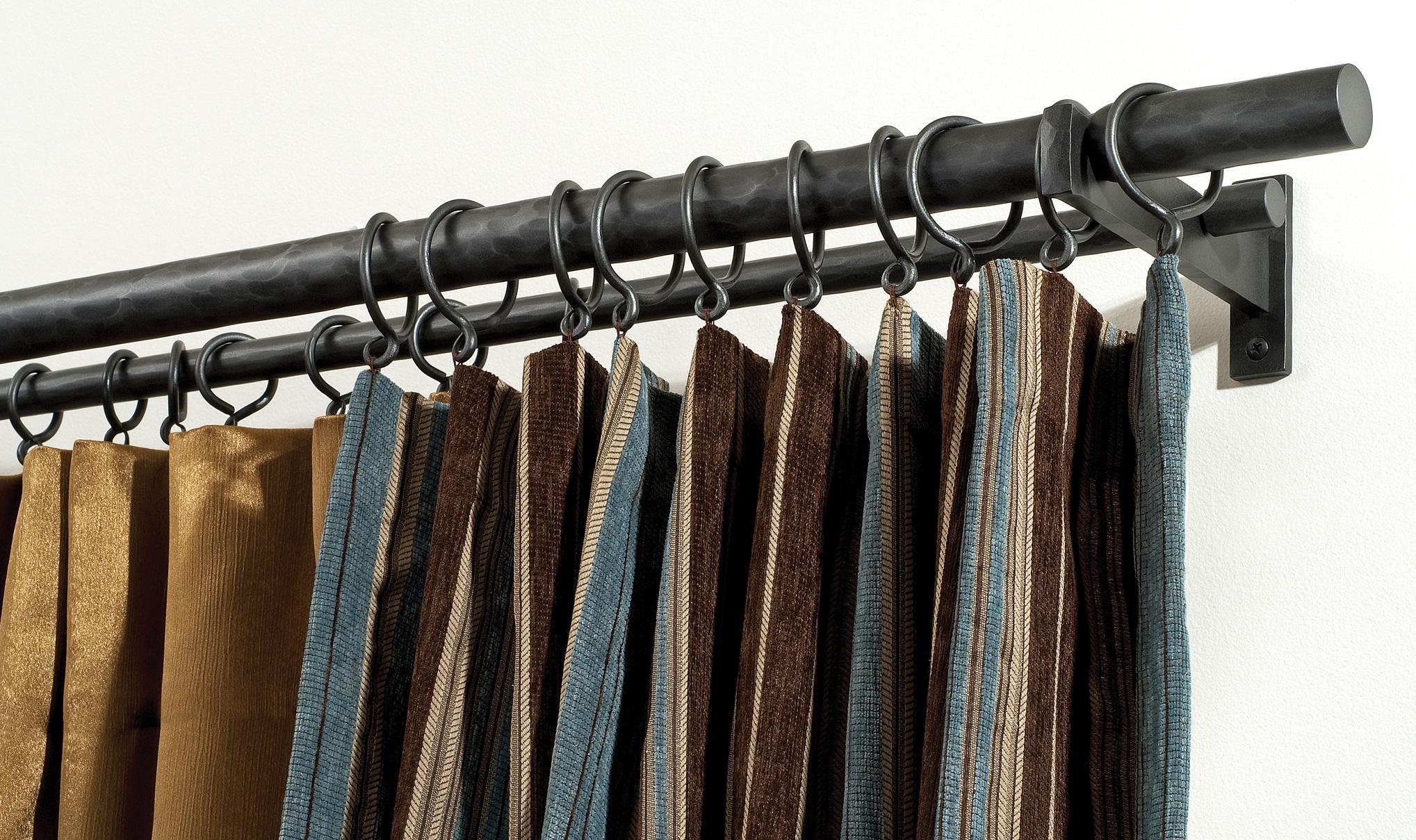 Coco Wrought Iron Curtain Rods Custom