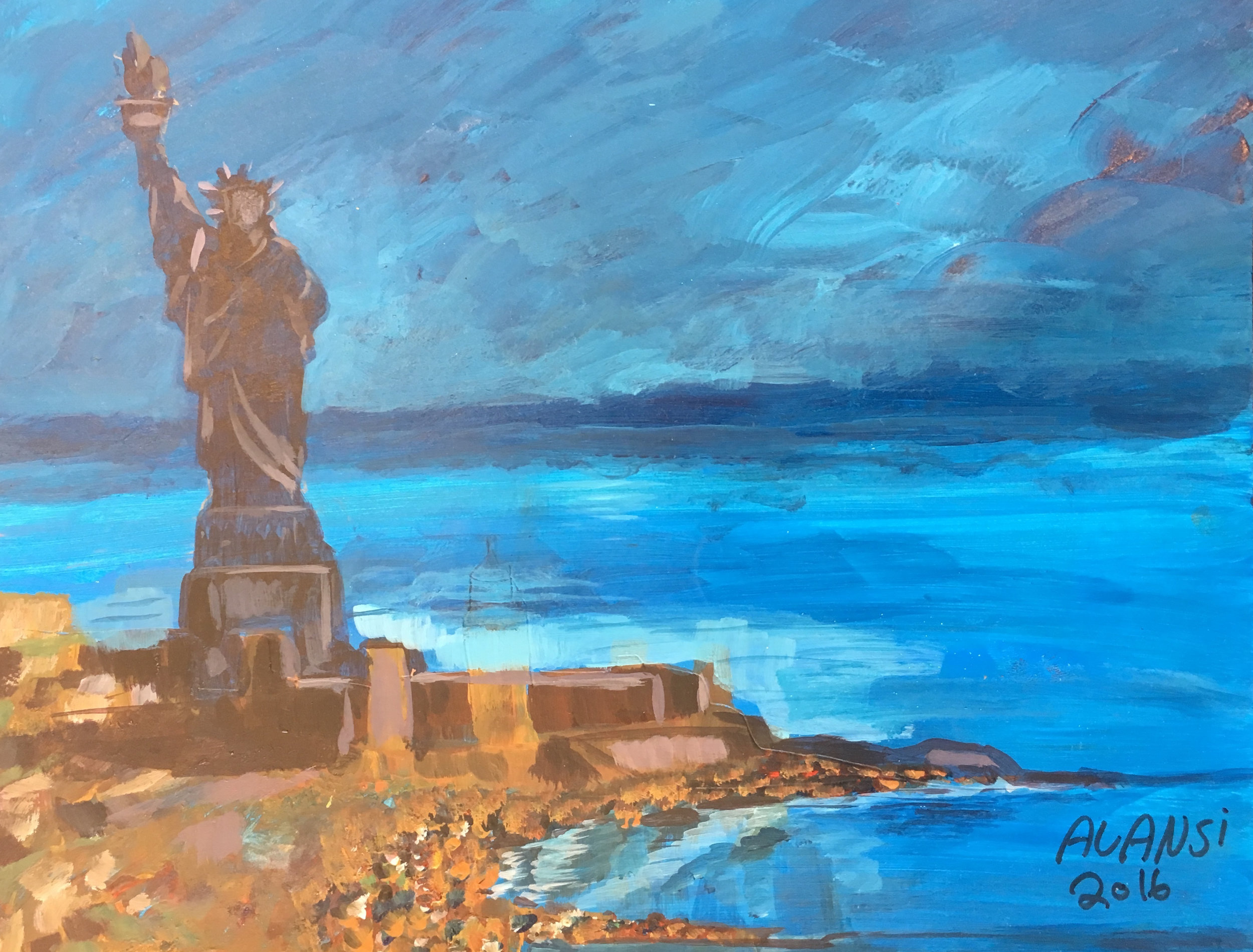 Muhammad Ansi, Statue of Liberty, 2016.