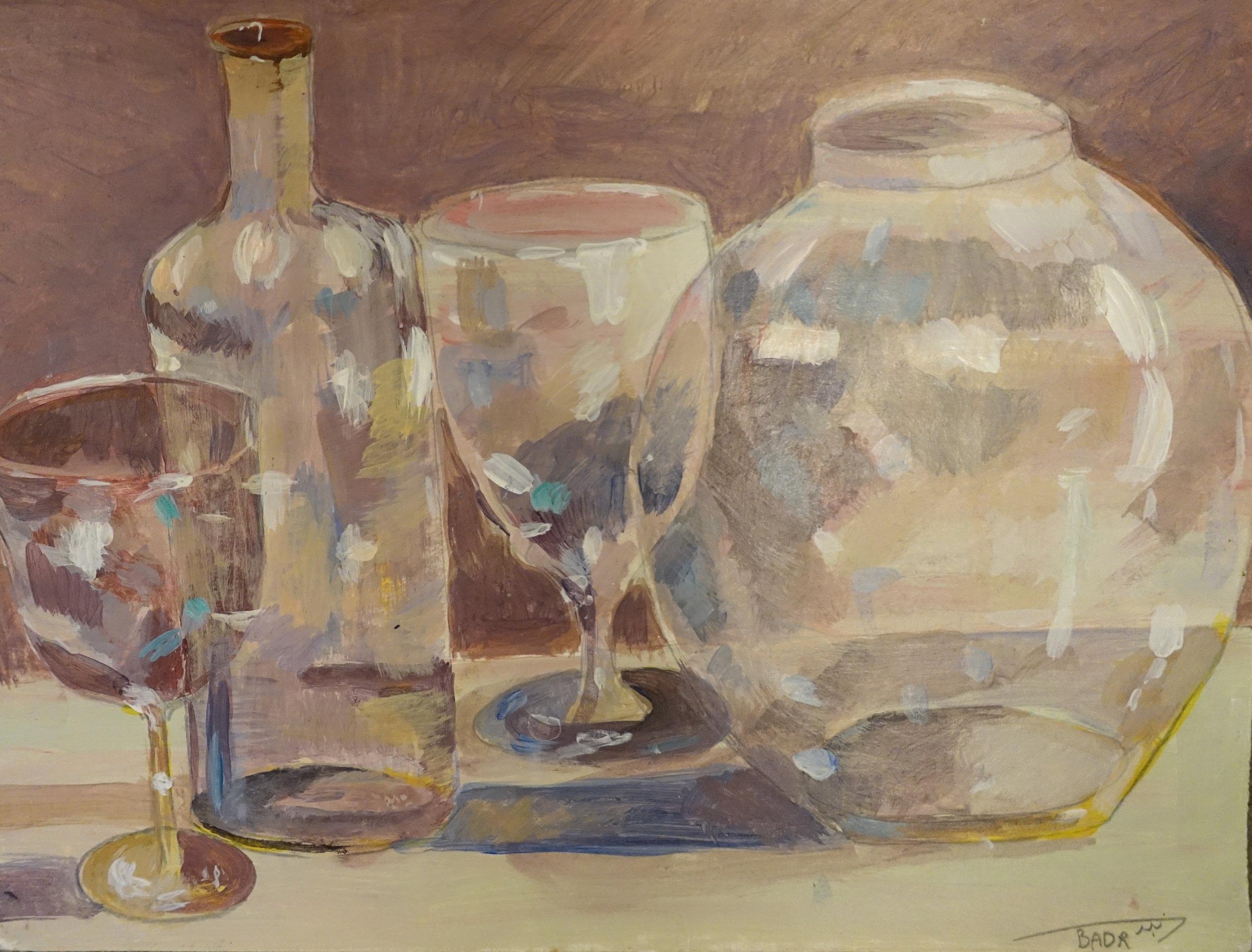 Ahmed Rabbani, Empty Glassware, 2015.
