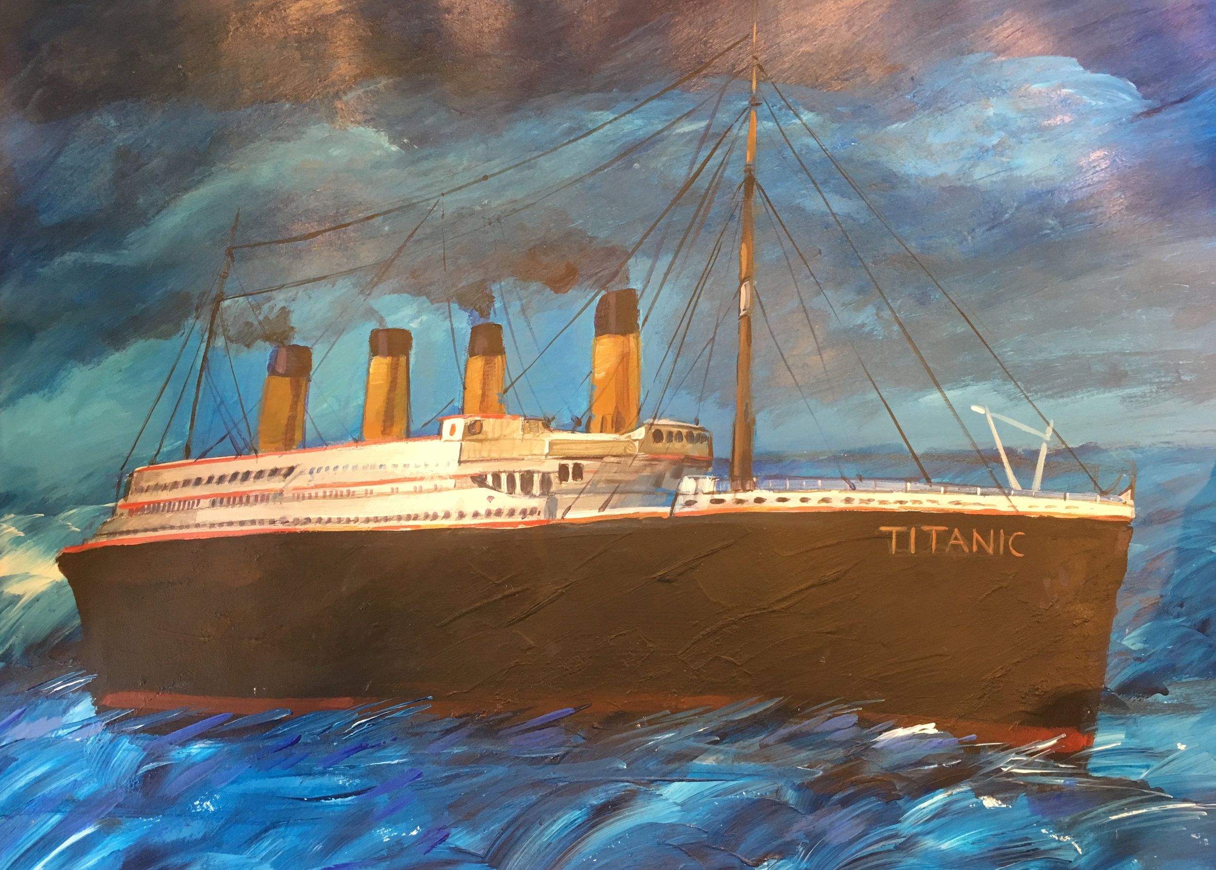 Muhammad Ansi, Titanic (Recalled from Viewing during Interrogation), 2016.