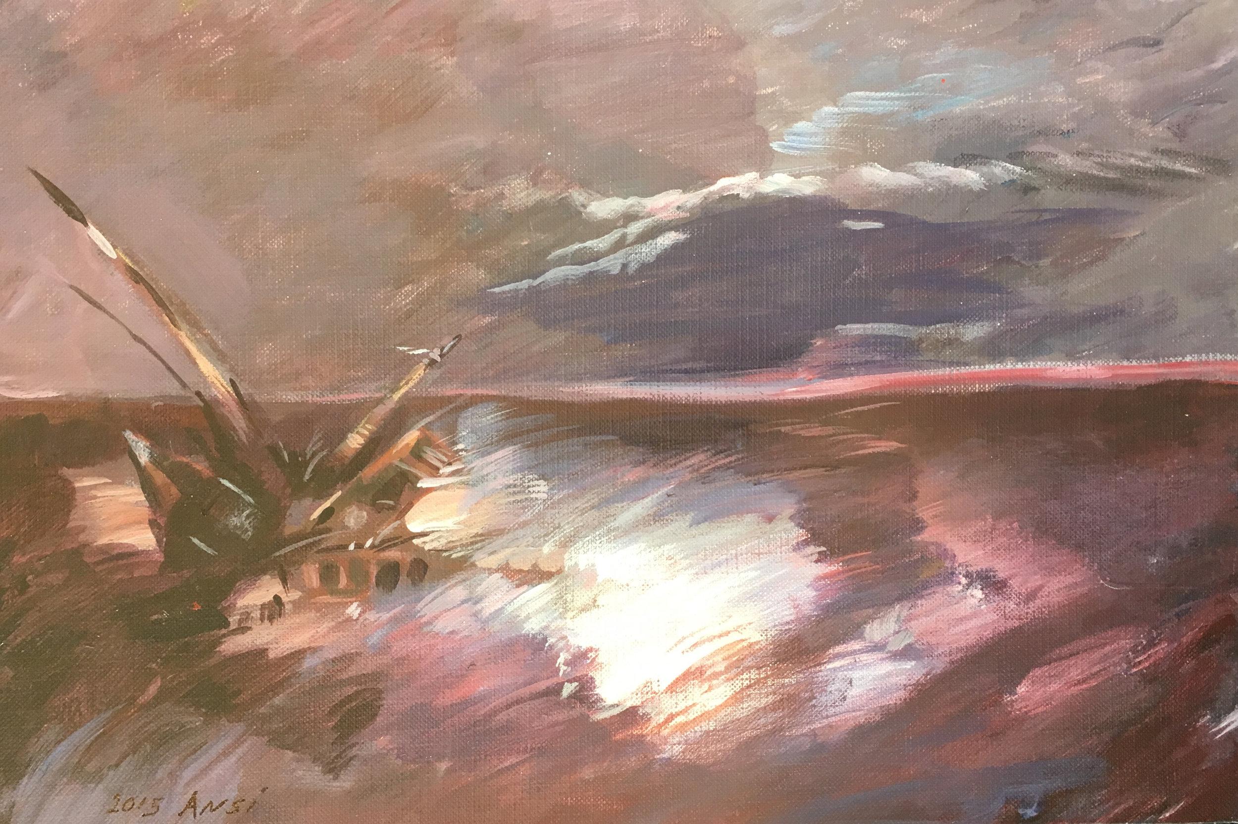 Muhammad Ansi, Shipwreck, 2015.