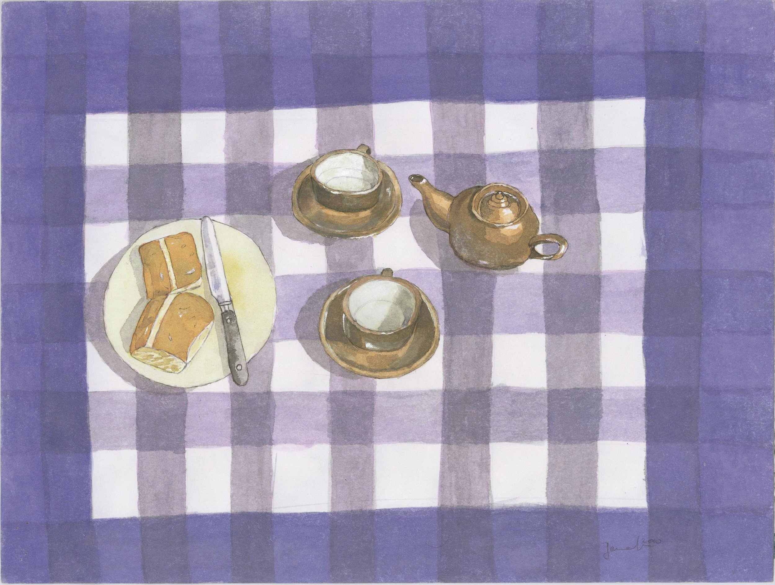 Djamel Ameziane, Tea on a Checkered Cloth, 2010.