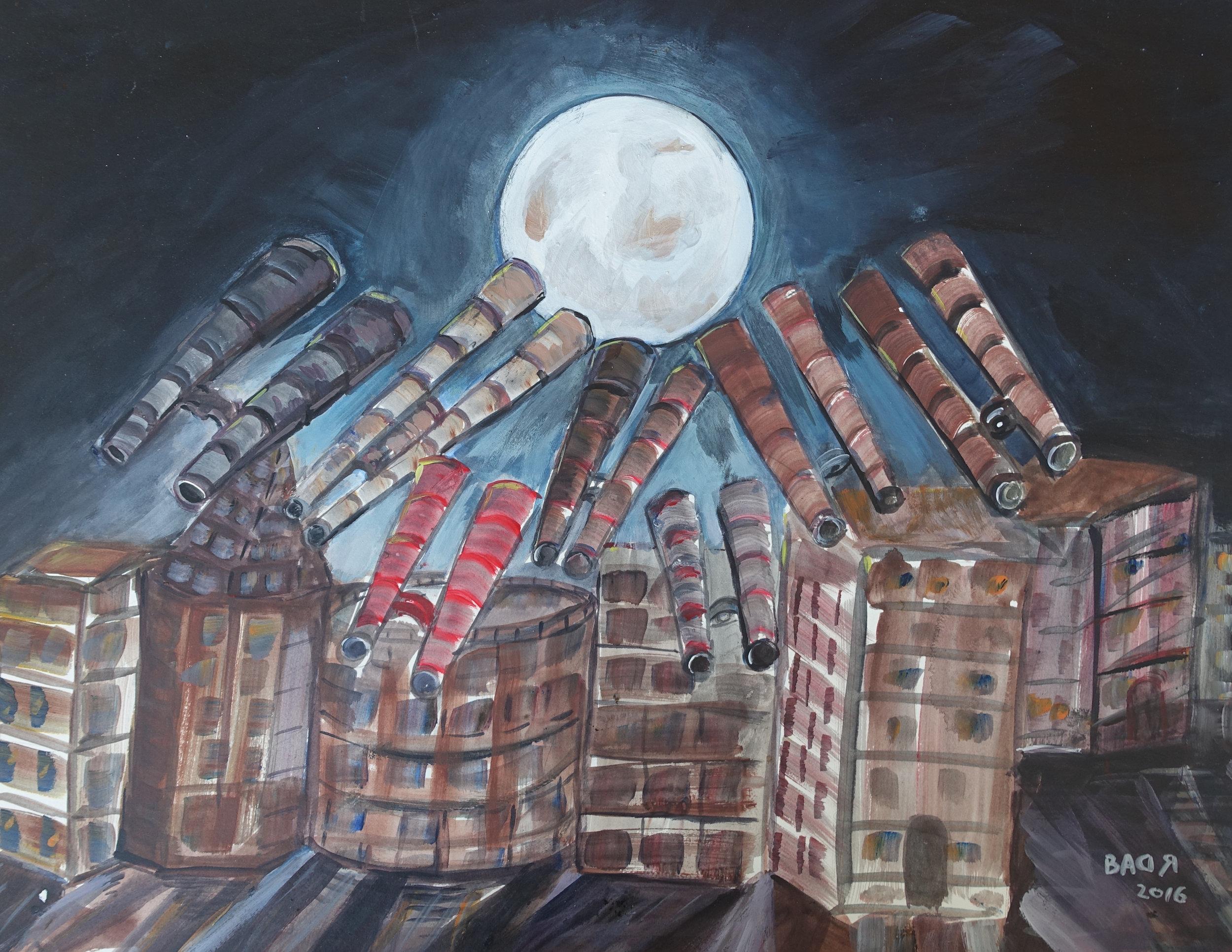 Ahmed Rabbani, Looking at the Moon, 2016.