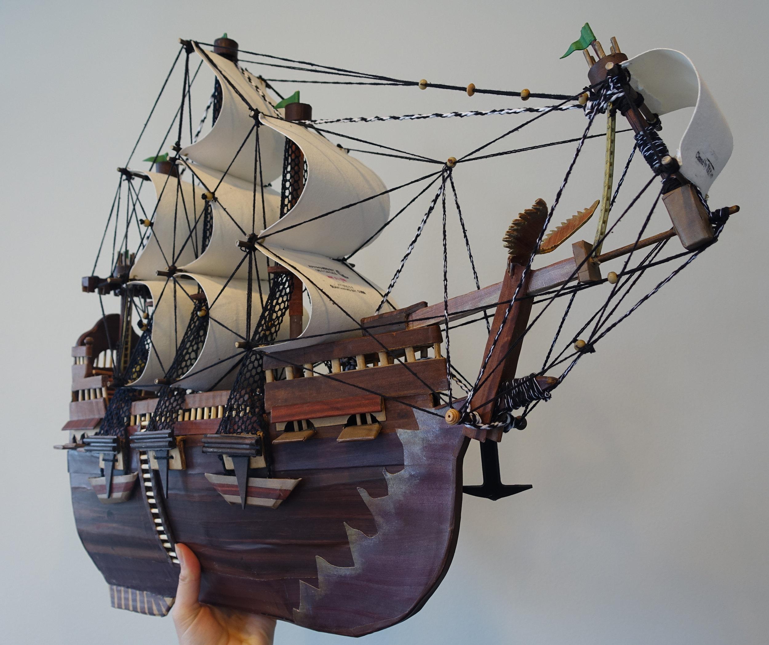 Moath al-Alwi,Model of a Ship, 2015.