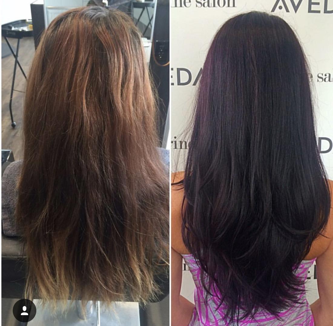 Tobie Huff Dallas Stylist Purple Vivid Fashion Hair Color