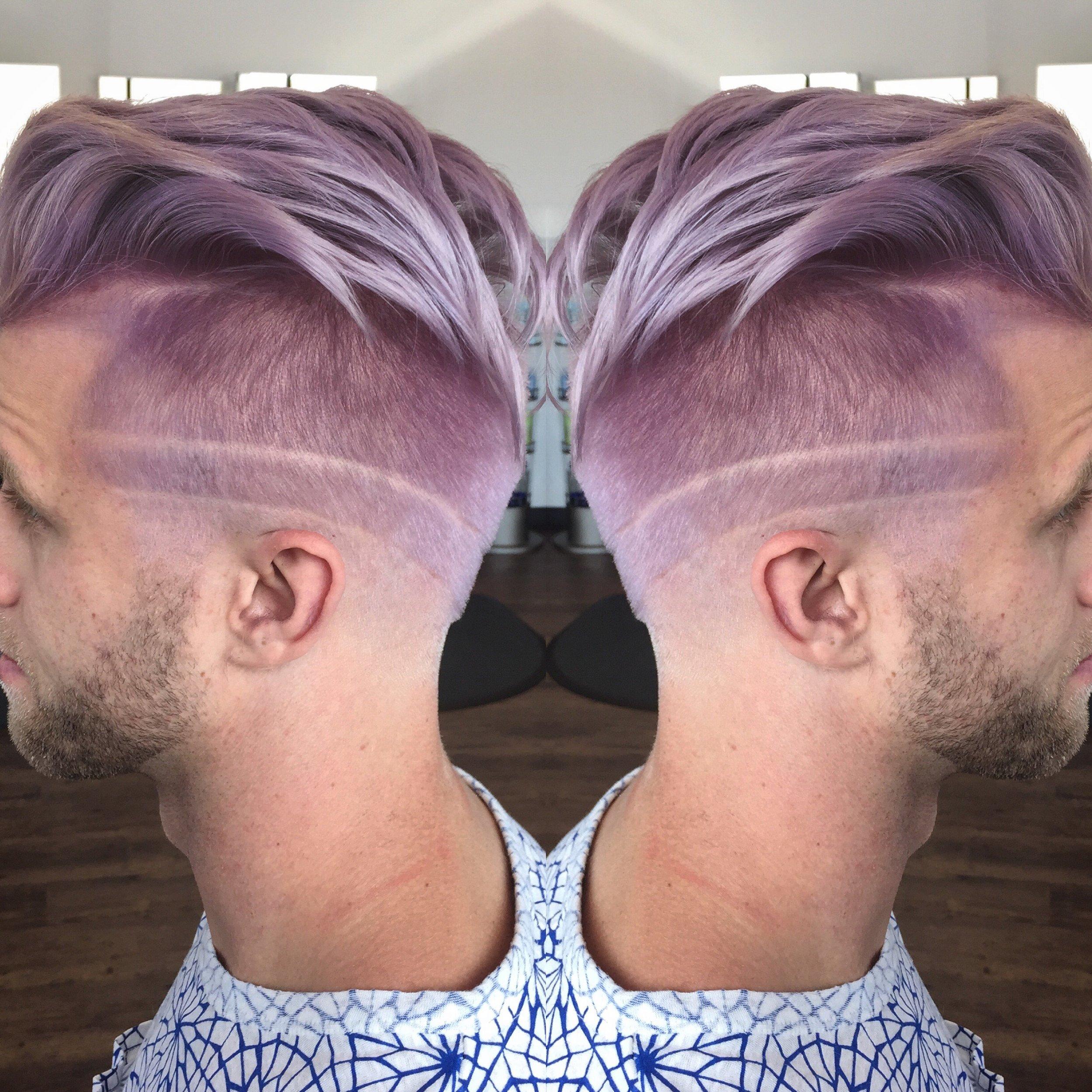 John Ball Dallas Stylist Purple Men's Cut Etching