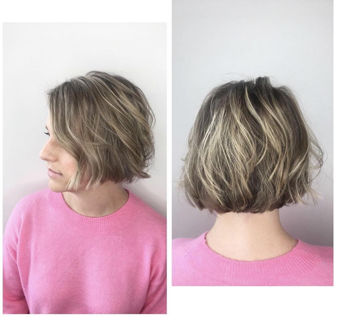 Ashley York Dallas Hairstylist Blonde Highlights Bob