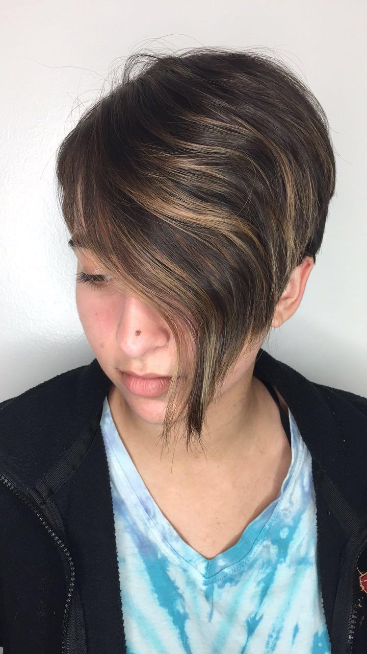 Bethany Oswalt Allen Hairstylist Pixie Balayage