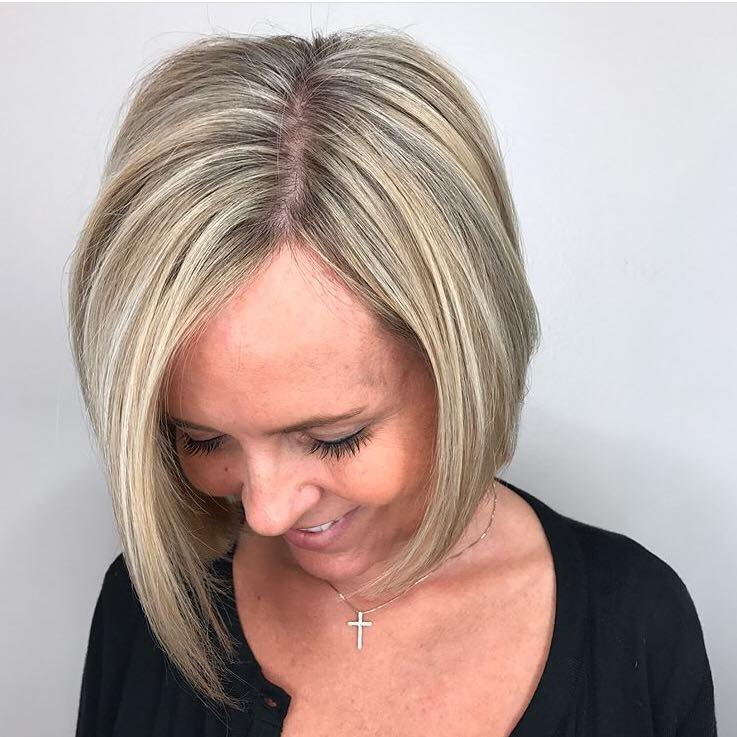 Nicki Gazlay Highland Village Stylist Highlight Bob