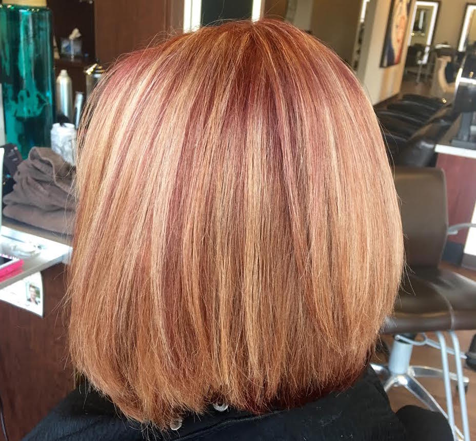 Will Peck Coppell Stylist Red Highlights