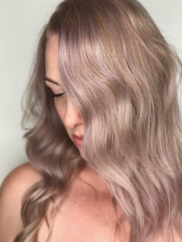 lilac hair color Sara Munoz Allen Stylist