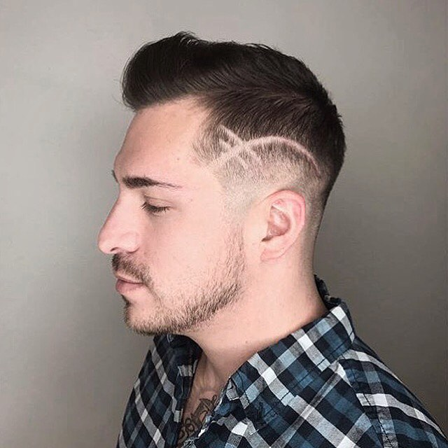 Blue Gilmore Frisco Hairstylist Mens Cut Etching
