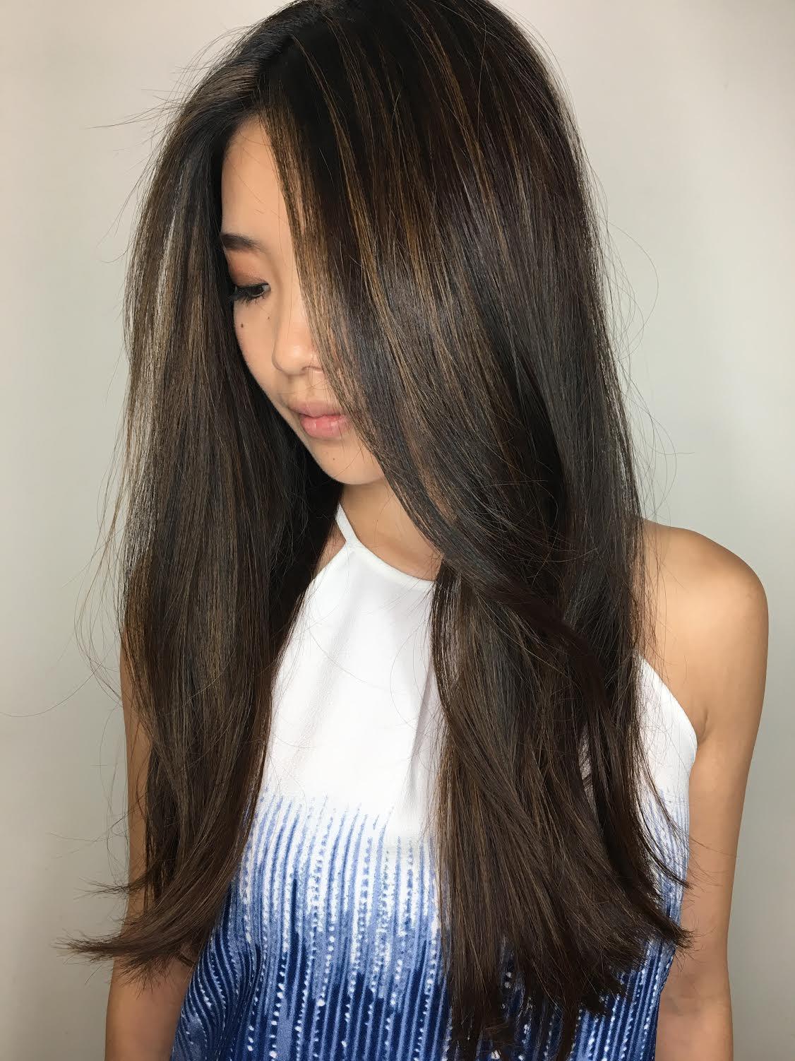 Kari Wawrzonek Frisco Hairstylist Brunette Long Layers