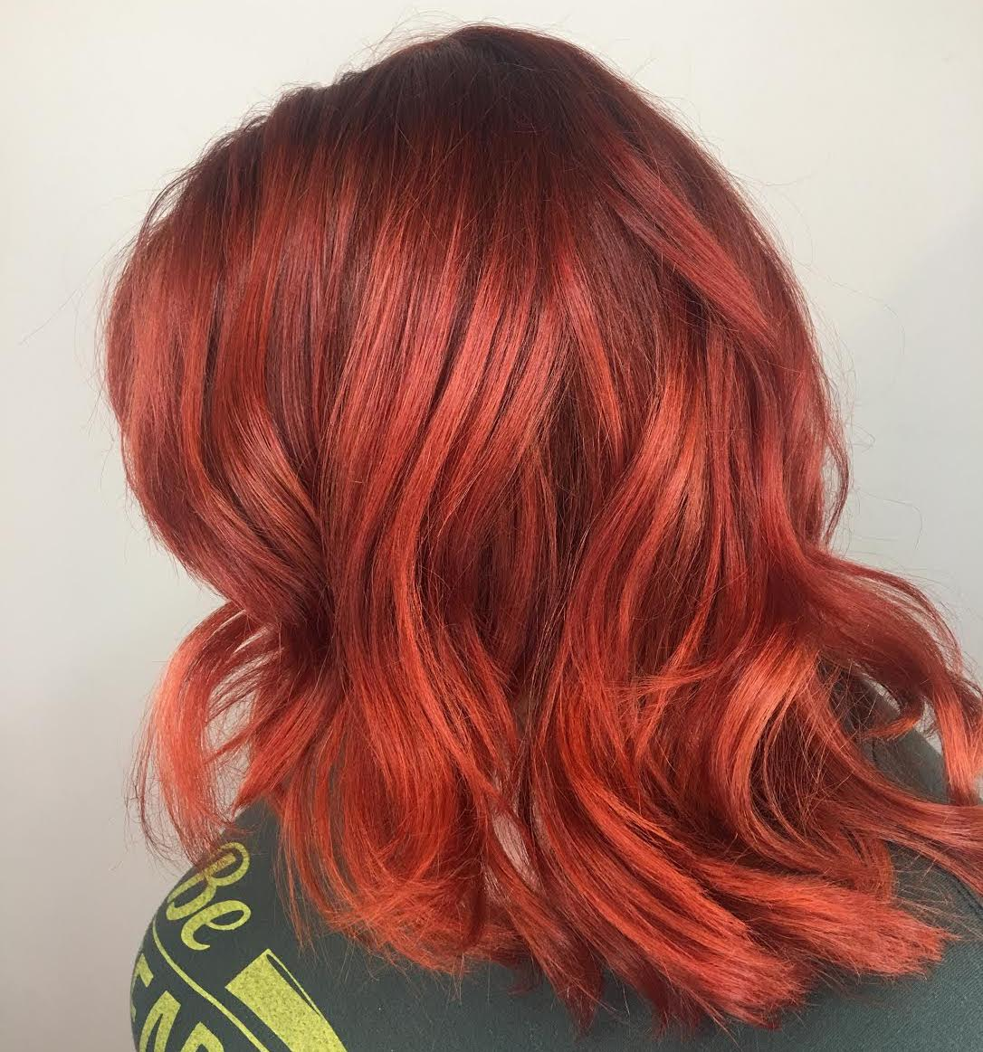 Christina Childress Highland Village Hairstylist Red Hair Color Fashion Vivid
