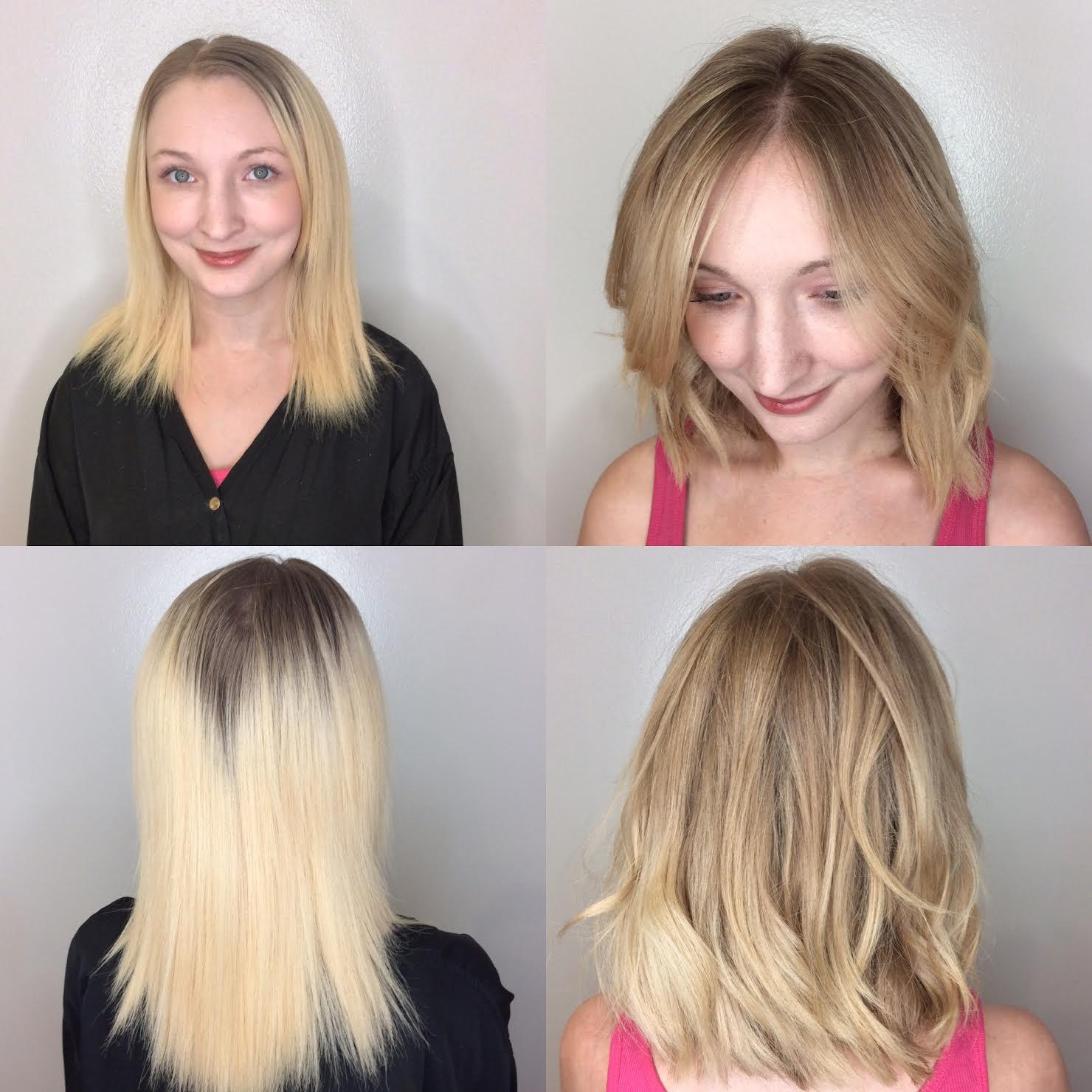 Kari Wawrzonek Frisco Hairstylist Blonde Transformation