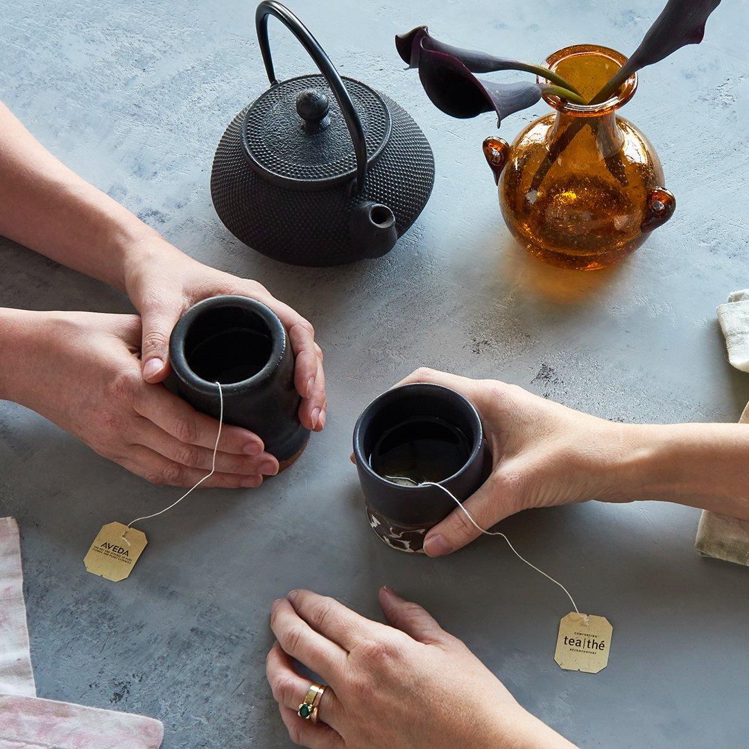 Aveda Comforting Tea at Tangerine Salon in Dallas, TX