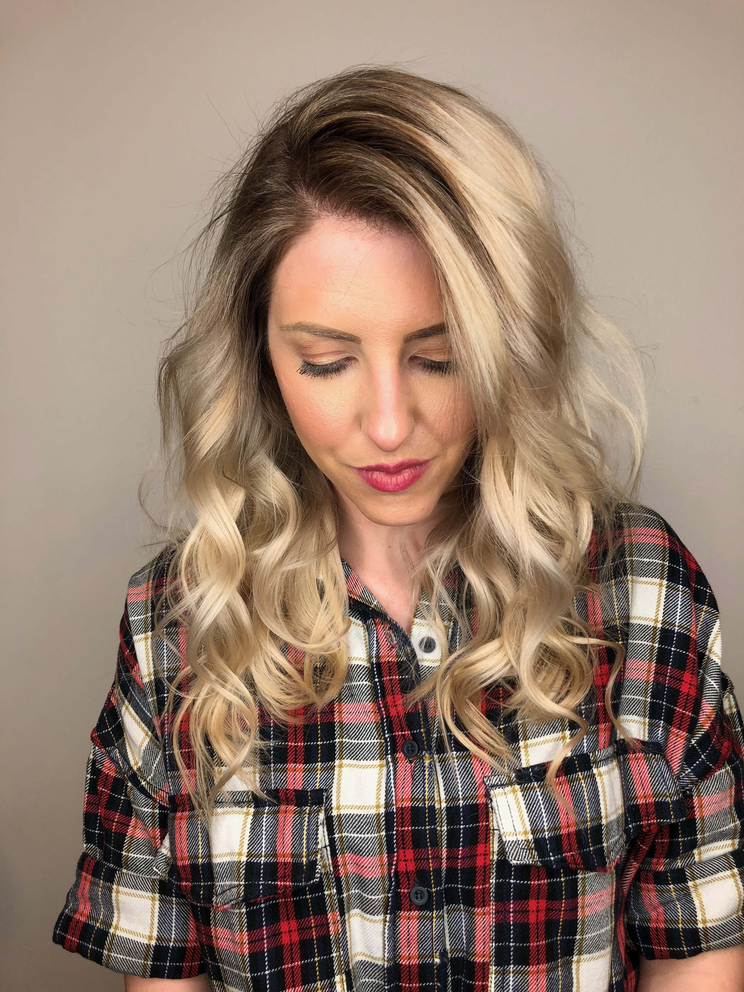 Root Shadow Blonde Highlights
