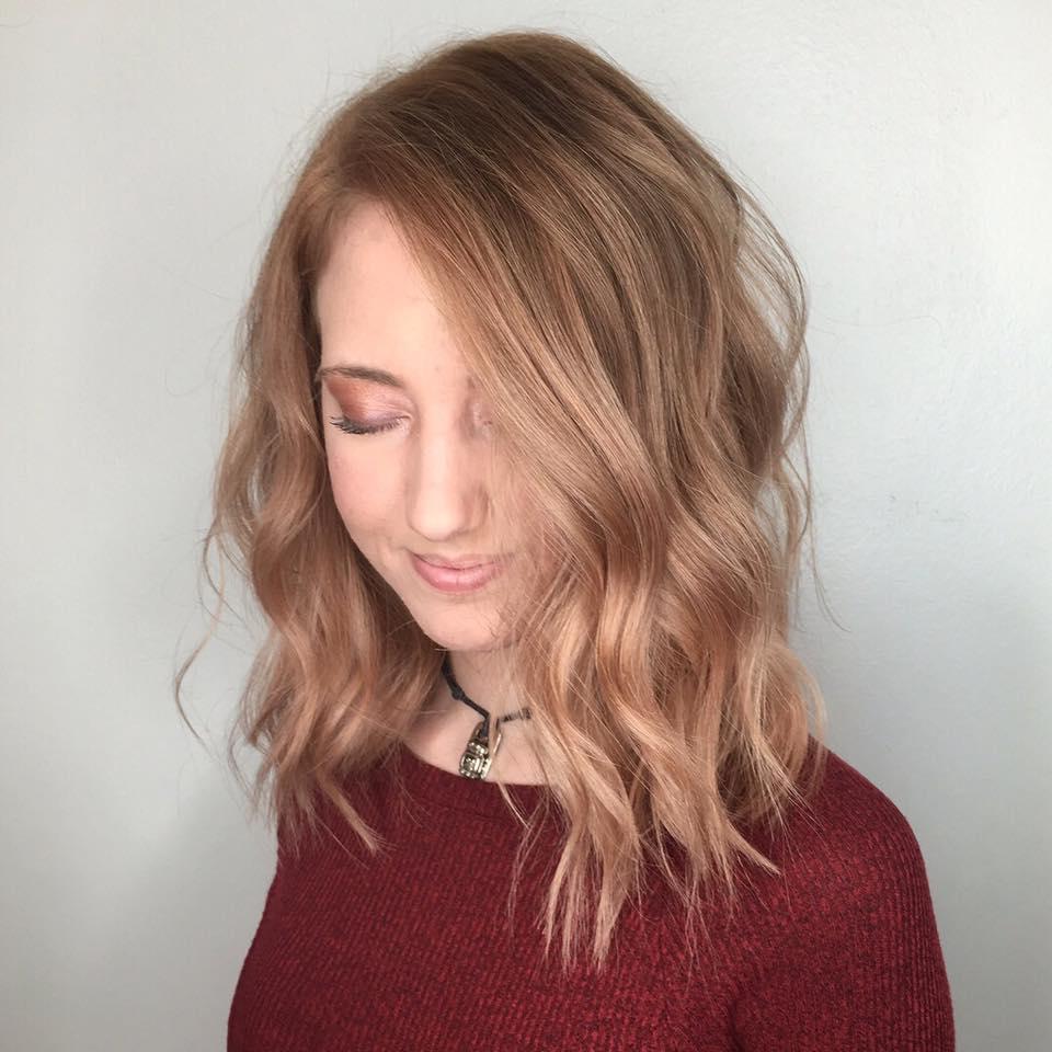 rose gold hair color dallas salon