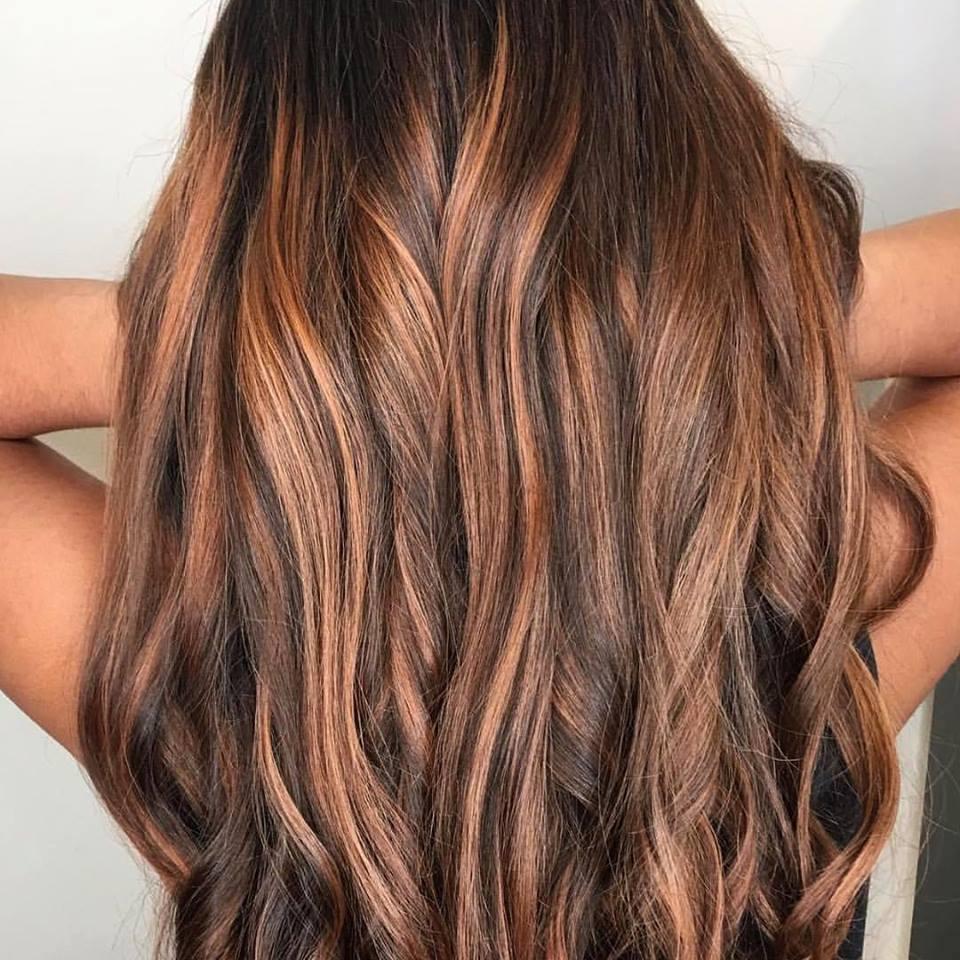 Copper Hair Color by Heika at Tangerine Salon Highland Village