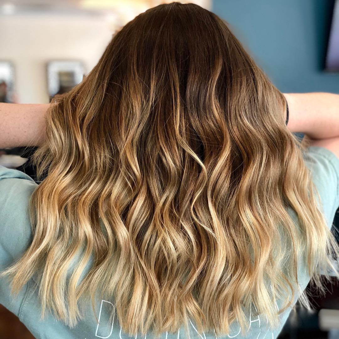 Honey Blonde Hair Color by Courtney at Tangerine Salon Highland Village