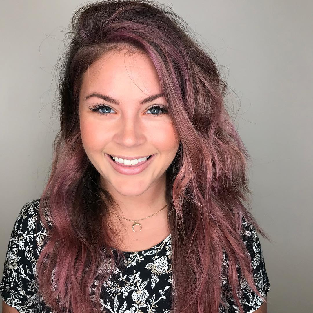 Mauve Hair Color by Adrian at Tangerine Salon Coppell