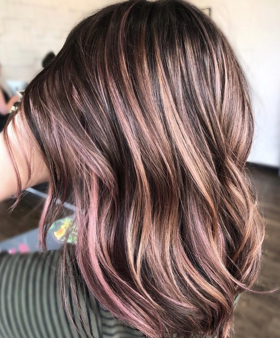 Mauve Hair Color by Jessica at Tangerine Salon Dallas