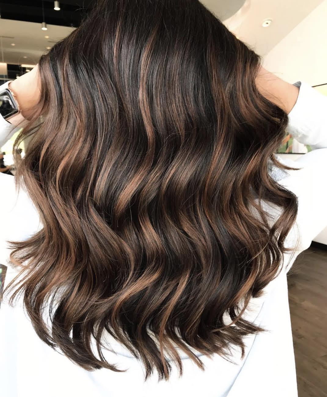 Dark Chocolate Hair Color by Taylor at Tangerine Salon Dallas