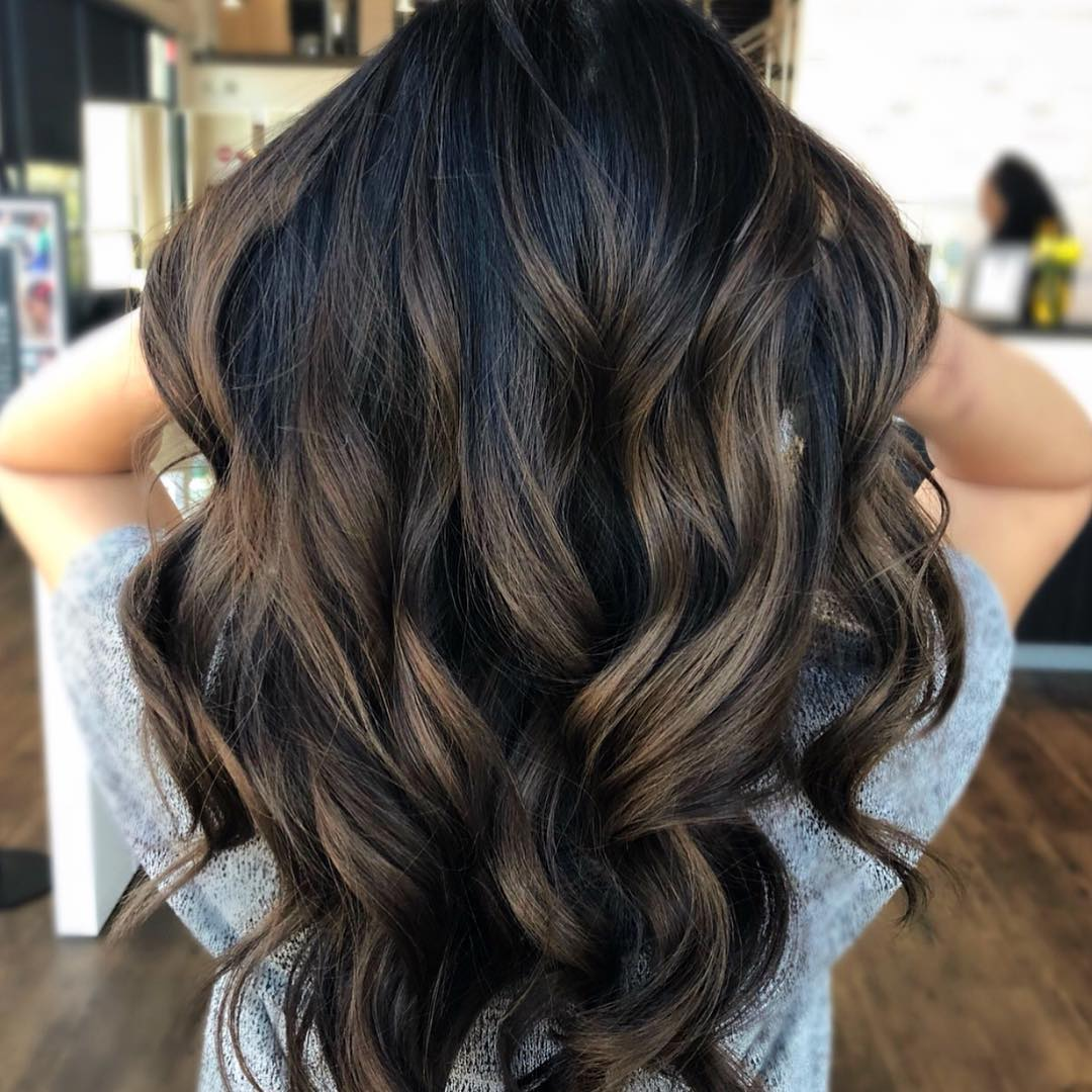 Dark Chocolate Hair Color by Jessica at Tangerine Salon Dallas