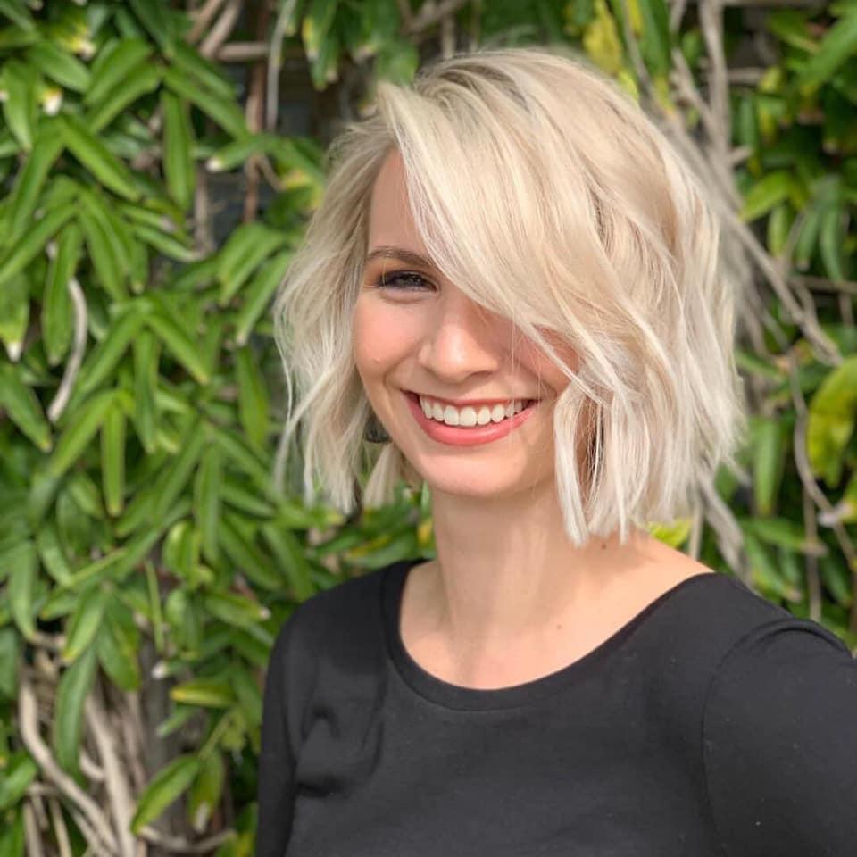 Kelsey McCarroll Dallas Stylist Blonde Bob