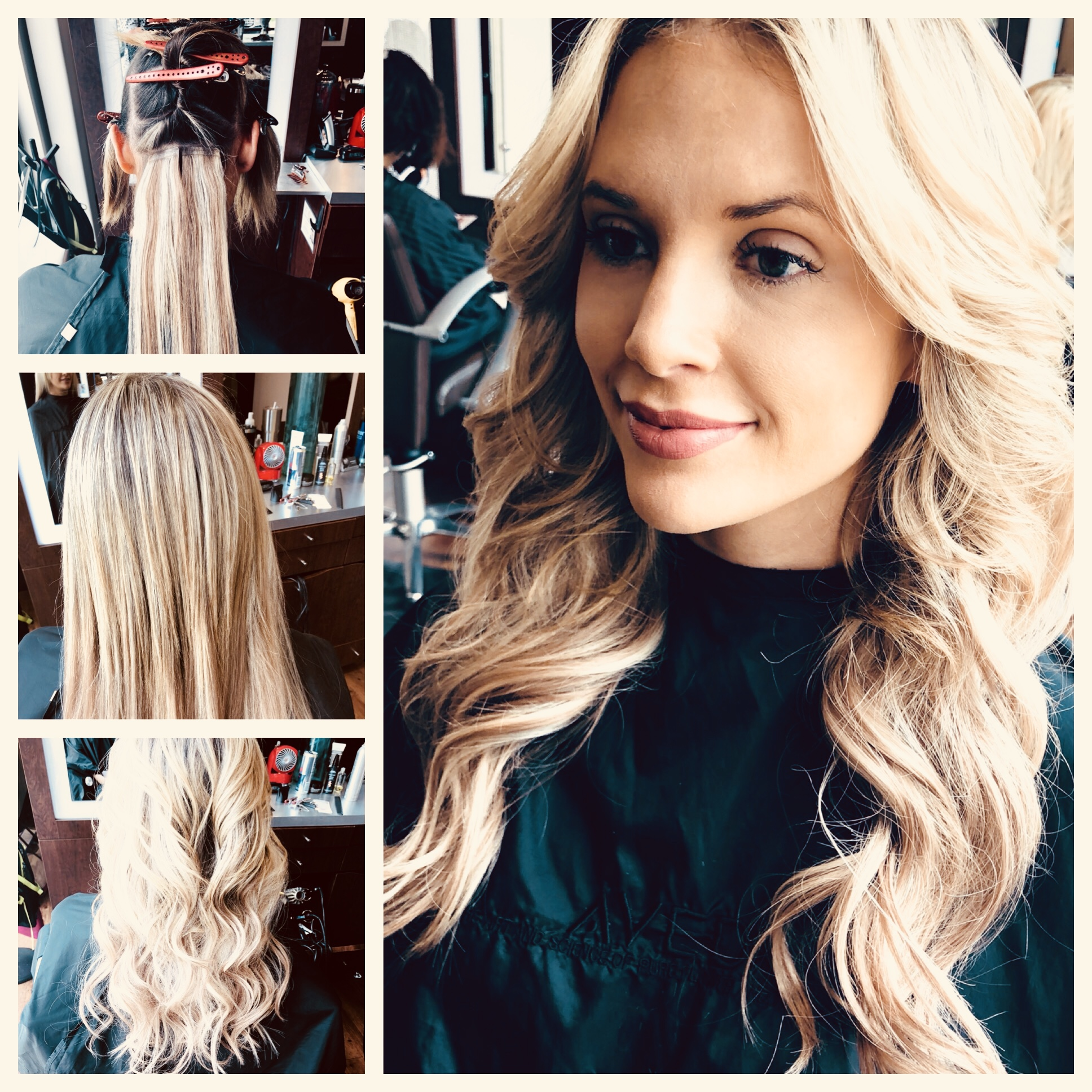 Will Peck Coppell Stylist Transformation Blonde Extensions