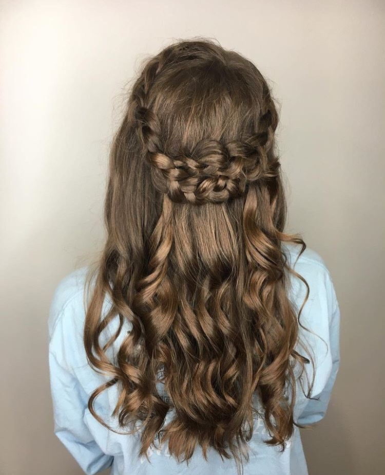 Abby Elliott Coppell Hairstylist Bridal Formal Prom Updo Braids