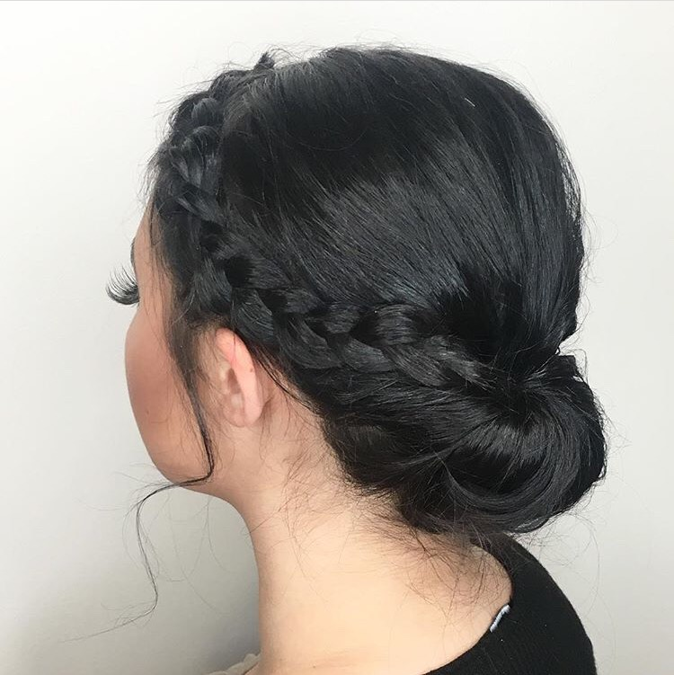 Abby Elliott Coppell Hairstylist Bridal Formal Prom Updo Braid