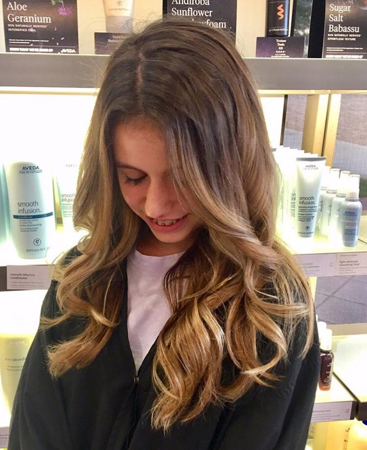 Heika Yaro Highland Village Hairstylist Brunette Balayage