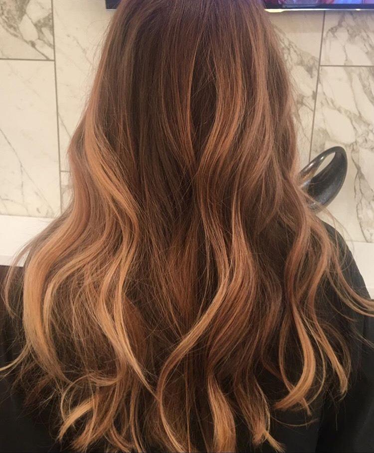 Heika Yaro Highland Village Hairstylist Copper Balayage