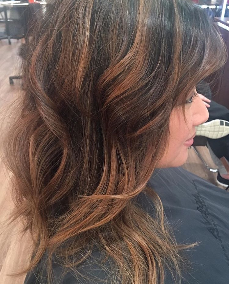 Heika Yaro Highland Village Hairstylist Caramel Highlights