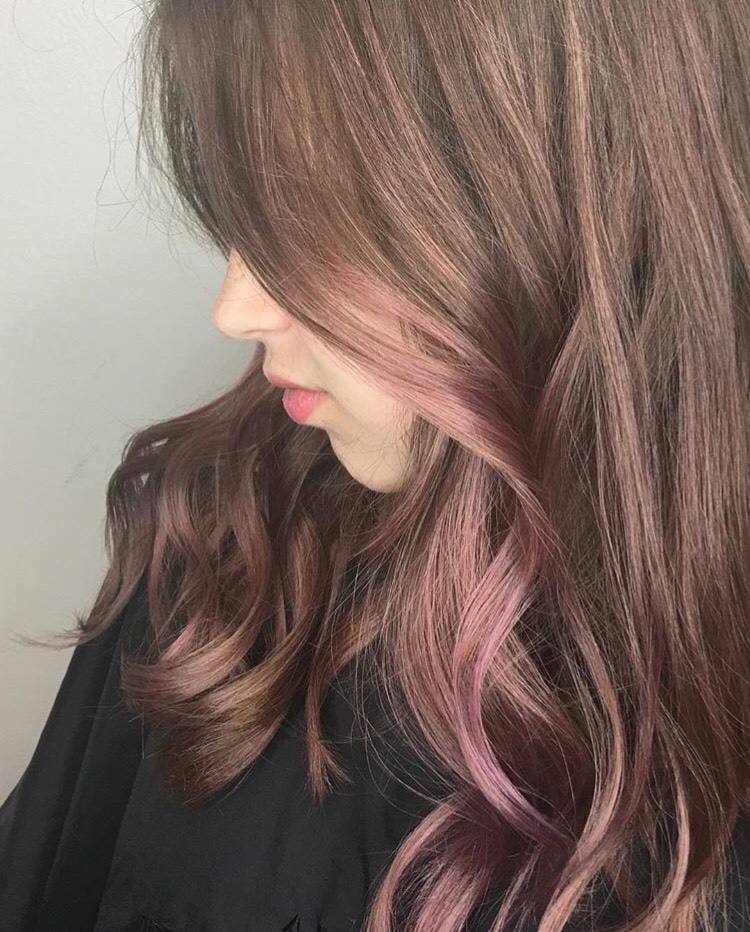 Heika Yaro Highland Village Hairstylist Rose Gold Balayage