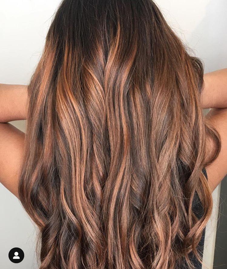 Heika Yaro Highland Village Hairstylist Copper Highlights