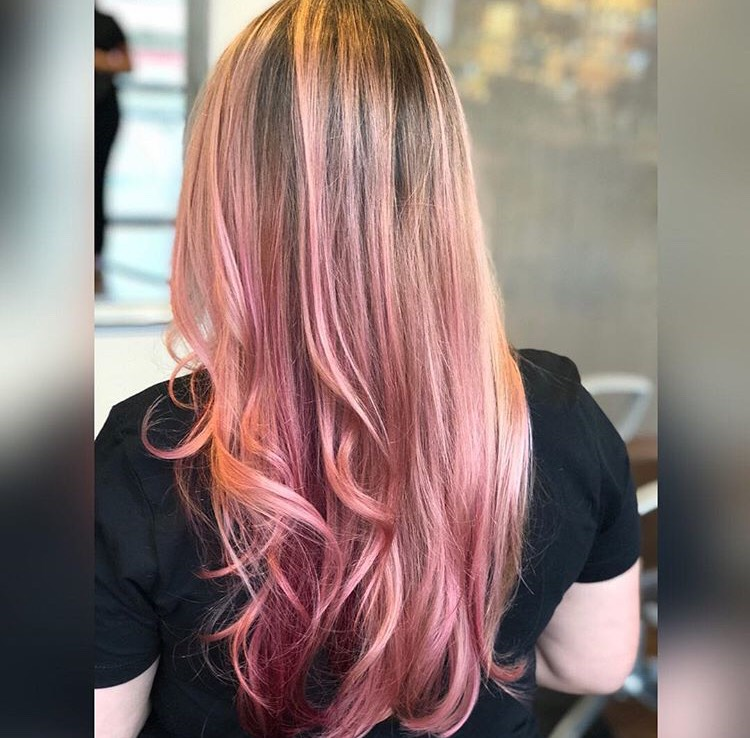 Lexy Hernandez Coppell Hairstylist Pink Vivid Fashion Balayage