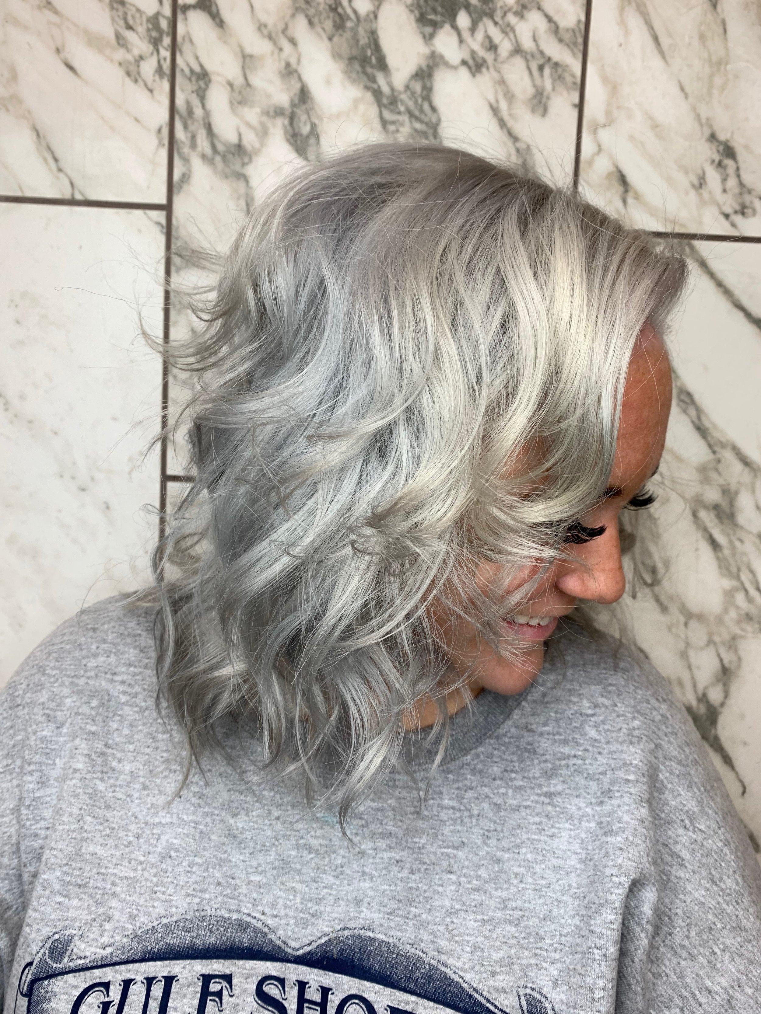 Terron Harrison Highland Village Hairstylist Platinum Blonde