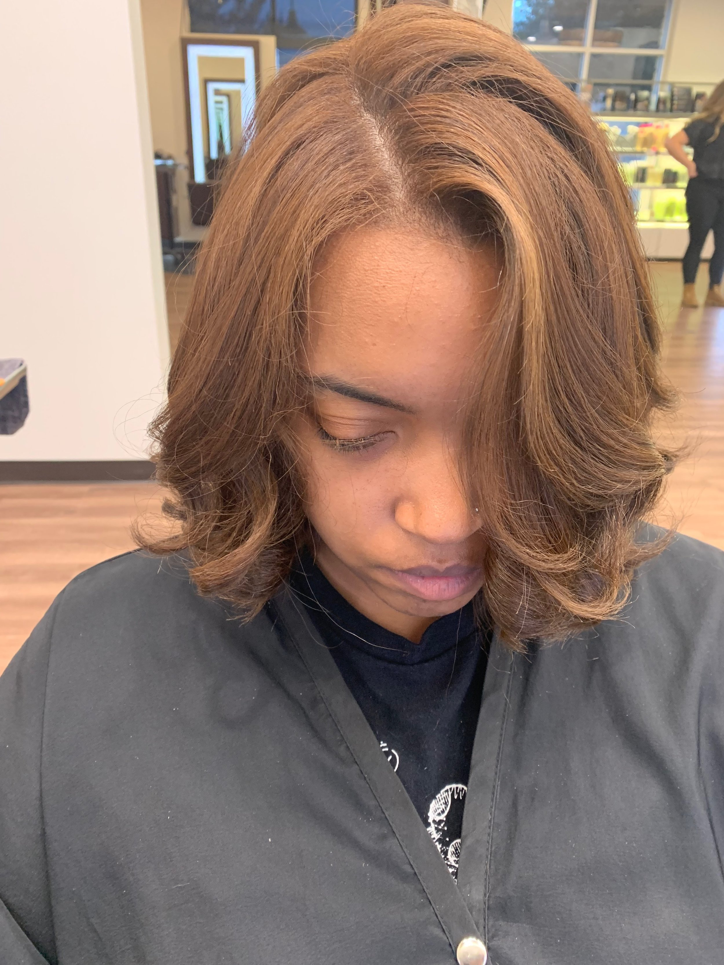 Terron Harrison Highland Village Hairstylist Copper All over color