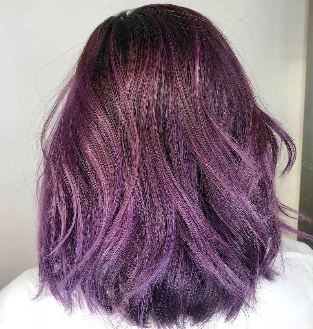 Christina Childress Highland Village Hairstylist Purple Fashion Color Vivid