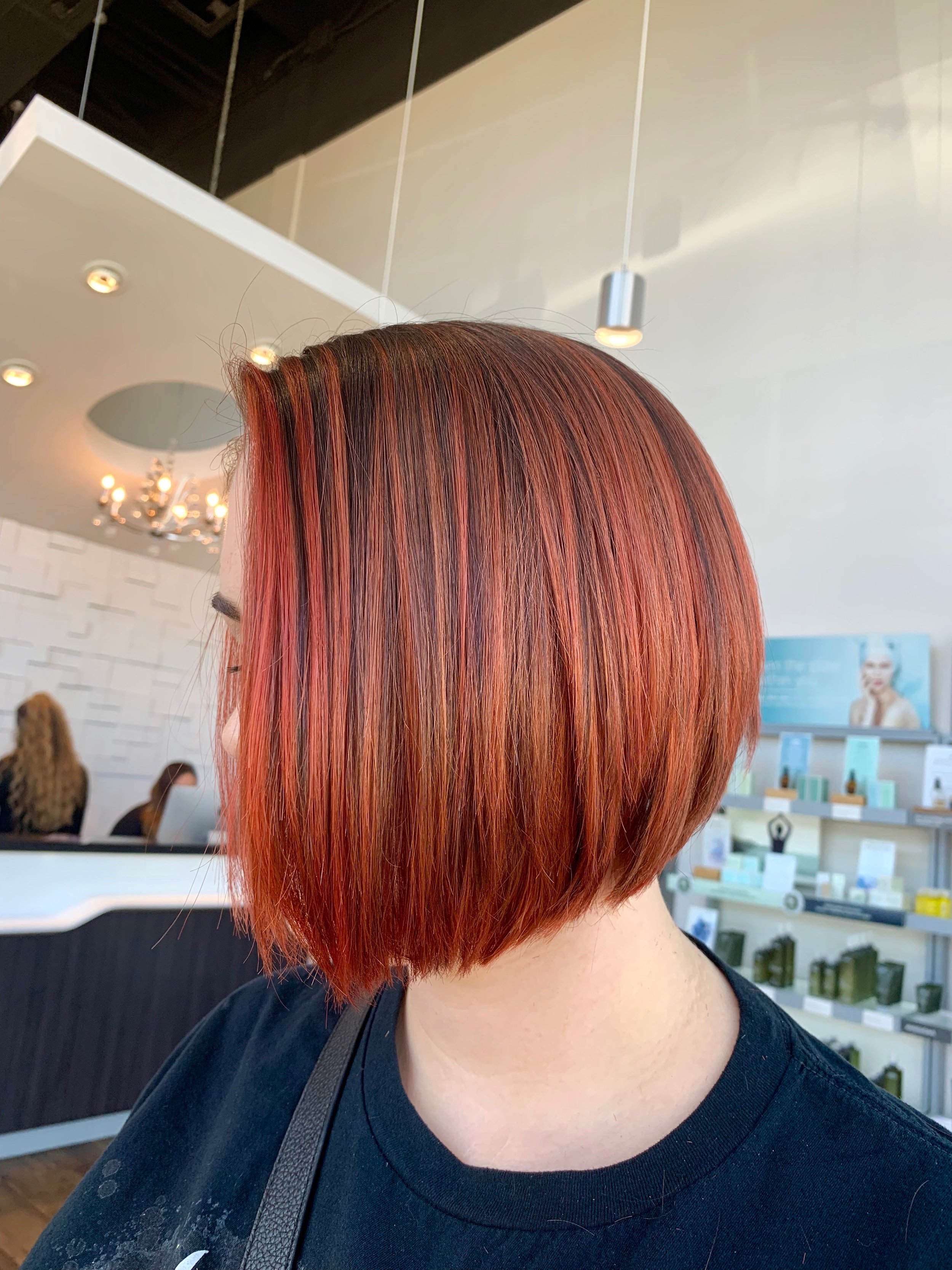 Madelyn Lindley Dallas Hairstylist Red Bob