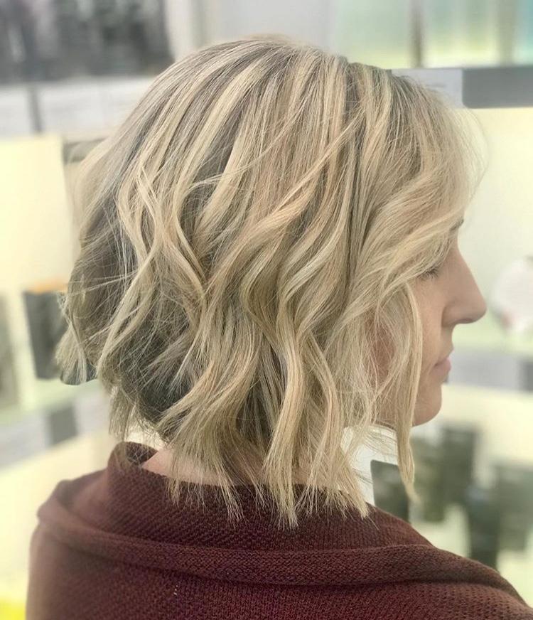 Brooke McCallon Frisco Hairstylist Blonde Bob