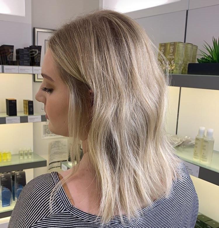Sara Eads Frisco Hairstylist Blonde Bob