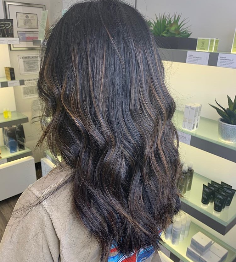 Sara Eads Frisco Hairstylist Brunette Caramel Highlights