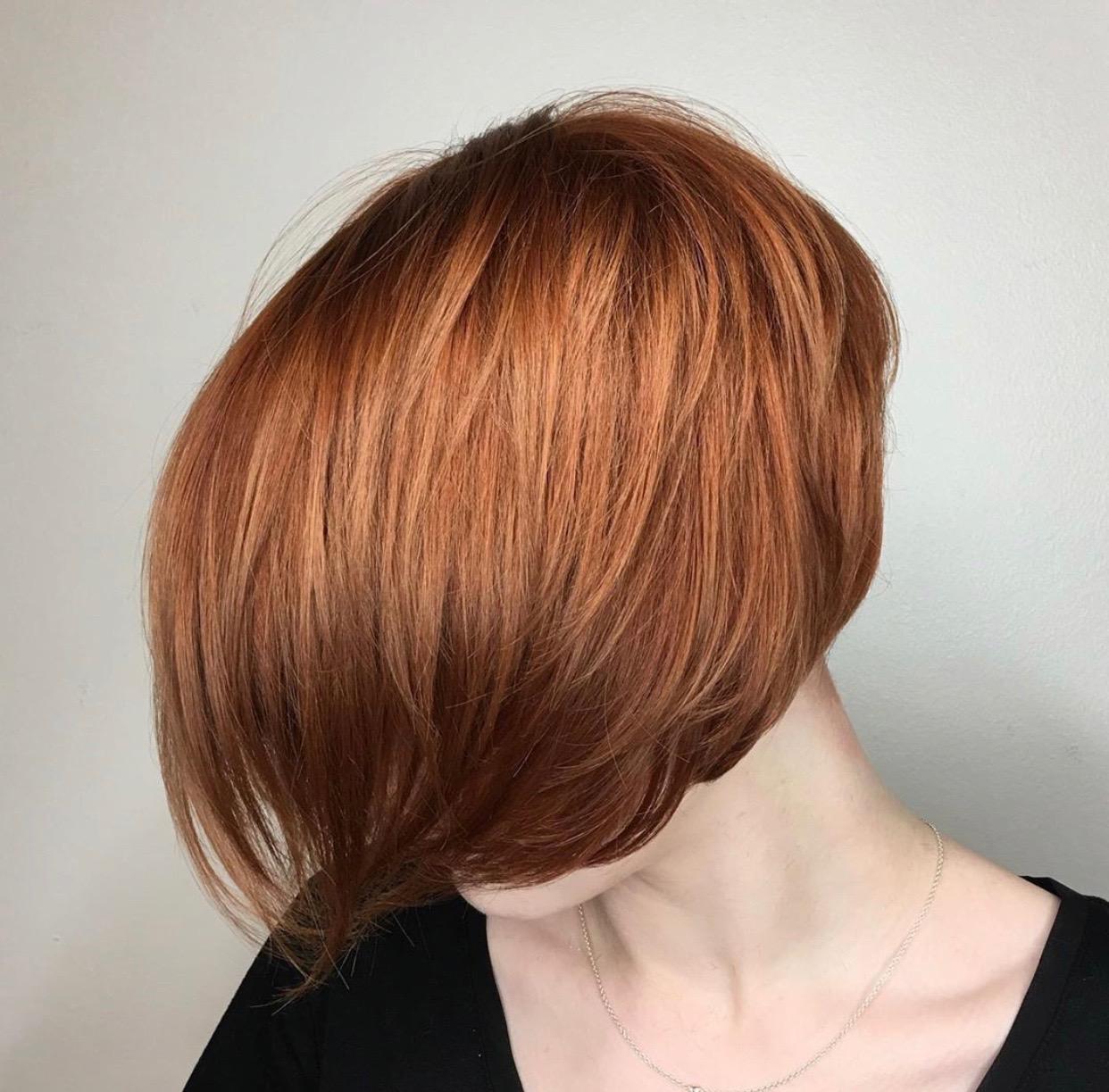 Christina Childress Highland Village Hairstylist Red Bob