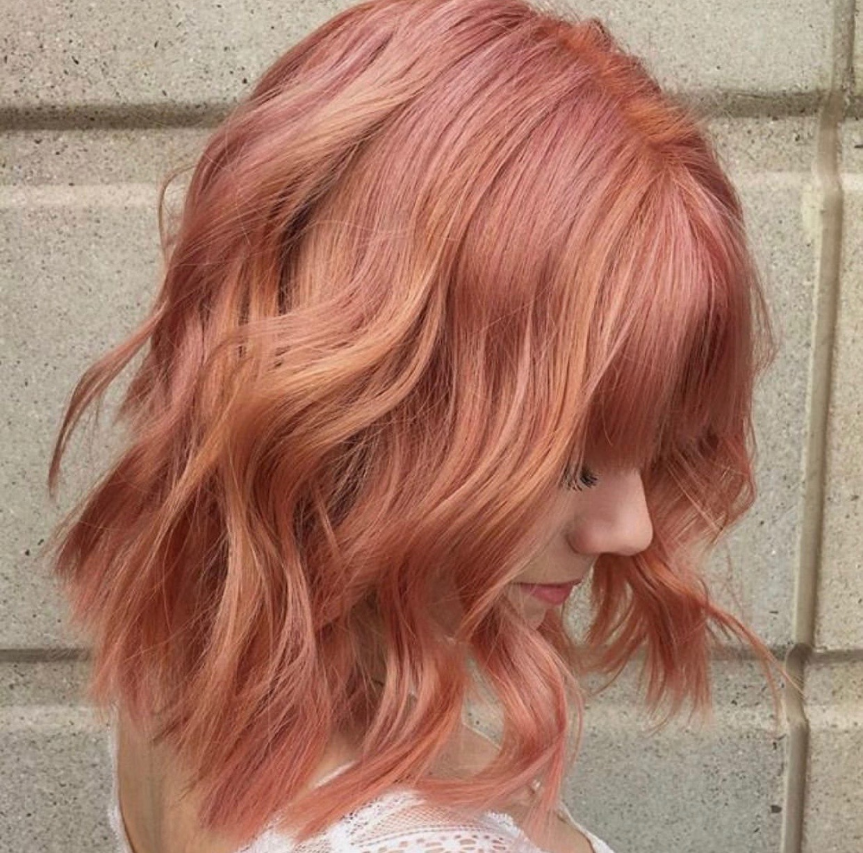 Christina Childress Highland Village Hairstylist Rose Gold Pink Hair Color