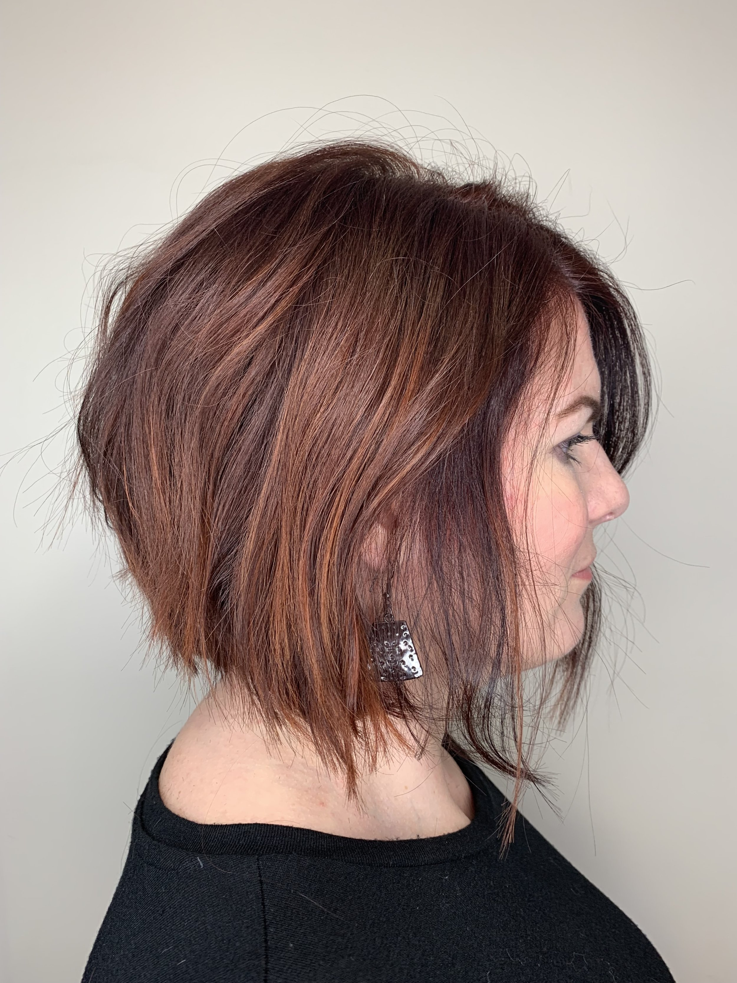 Adrian Franco Coppell Hairstylist Red Bob
