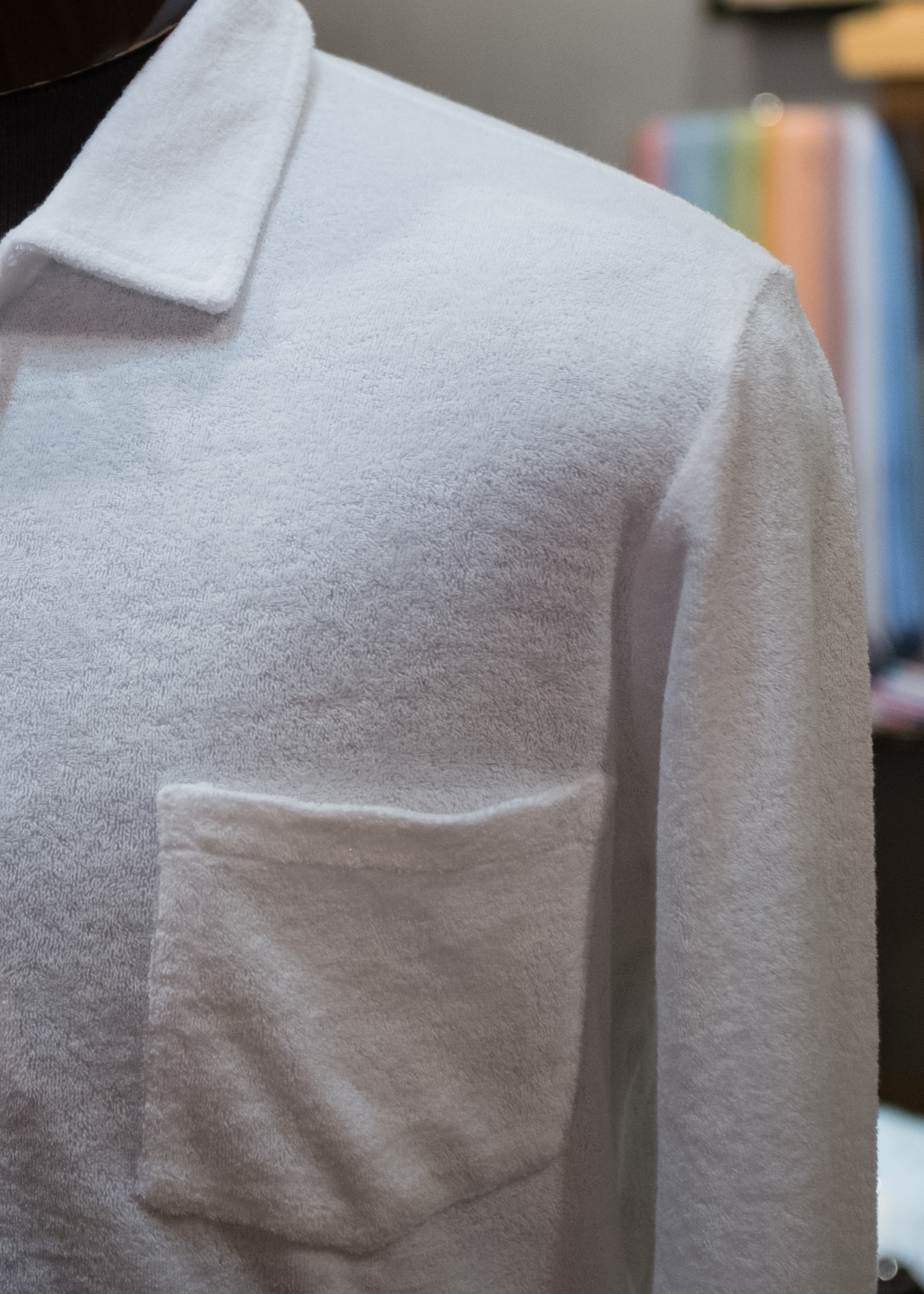 Up close with our exquisitely fine terry cloth.